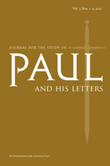 Journal for the Study of Paul and His Letters