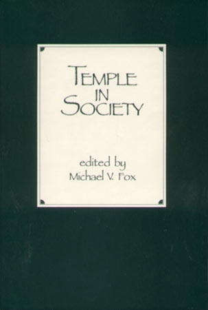 Cover image for Temple in Society Edited by Michael V. Fox