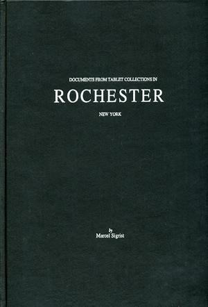 Cover image for Documents from Tablet Collections in Rochester, New York By Marcel Sigrist