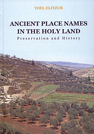 Cover image for Ancient Place Names in the Holy Land: Preservation and History By Yoel Elitzur