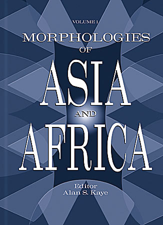 Cover image for Morphologies of Asia and Africa Edited by Alan S. Kaye