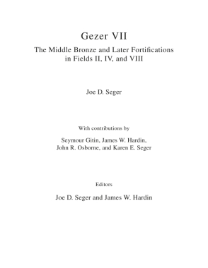 Cover for the book Gezer VII: The Middle Bronze and Later Fortifications in Fields II, IV, and VIII