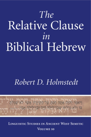 Cover image for The Relative Clause in Biblical Hebrew By Robert D. Holmstedt