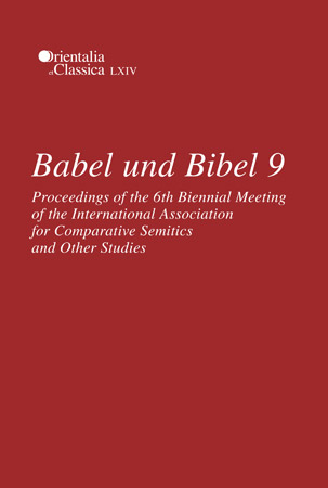 Cover for the book Babel und Bibel 9