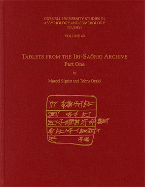 Cover for the book Tablets from the IrisaĝrigArchive
