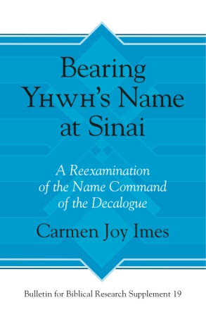 Cover for Bearing Yhwh's Name at Sinai