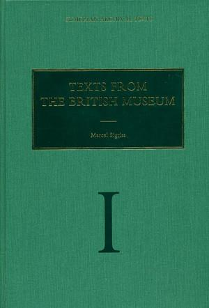 Cover image for Texts from the British Museum: Vol. I By Marcel Sigrist