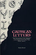 Cover image for Cadmean Letters: The Transmission of the Alphabet to the Aegean and Further West before 1400 B.C. By Martin Bernal