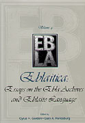 Cover image for Eblaitica: Essays on the Ebla Archives and Eblaite Language, Volume 4 Edited by Cyrus H. Gordon and Gary A. Rendsburg