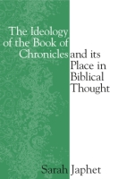 Cover image for The Ideology of the Book of Chronicles and Its Place in Biblical Thought By Sara Japhet