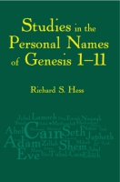 Cover image for Studies in the Personal Names of Genesis 1–11 By Richard S. Hess