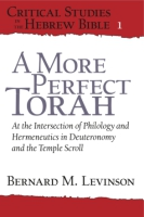 Cover for A More Perfect Torah