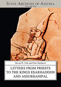 Cover image for Letters from Priests to the Kings Esarhaddon and Assurbanipal By Steven Cole and Peter Machinist