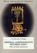 Cover image for Imperial Administrative Records, part 1: Palace and Temple Administration By Frederick M. Fales and J. N. Postgate