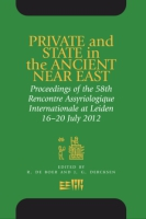 Cover image for Private and State in the Ancient Near East: Proceedings of the 58th Rencontre Assyriologique Internationale at Leiden, 16–20 July 2012 Edited by R. De Boer and J. G. Dercksen