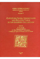 Cover image for CUSAS 17: Cuneiform Royal Inscriptions and Related Texts in the Schøyen Collection Edited by Andrew R. George, Contributions by Miguel Civil, Kenneth Richard Walters Jr., and Piotr Steinkeller