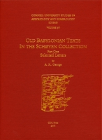 Cover image for CUSAS 36: Old Babylonian Texts in the Schøyen Collection Part One: Selected Letters By Andrew R. George