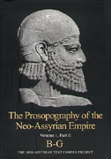 Cover image for The Prosopography of the Neo-Assyrian Empire, Volume 1, Part 2: B - G Edited by Karen Radner