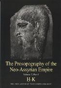 Cover image for The Prosopography of the Neo-Assyrian Empire, Volume 2, Part 1: H - K Edited by Heather Baker