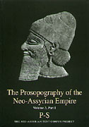 Cover for The Prosopography of the Neo-Assyrian Empire, Volume 3, Part 1