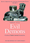 Cover image for Evil Demons: Canonical Utukku- Lemnu-tu Incantations By M. Geller