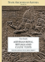 Cover image for Assyrian Royal Rituals and Cultic Texts By Simo Parpola