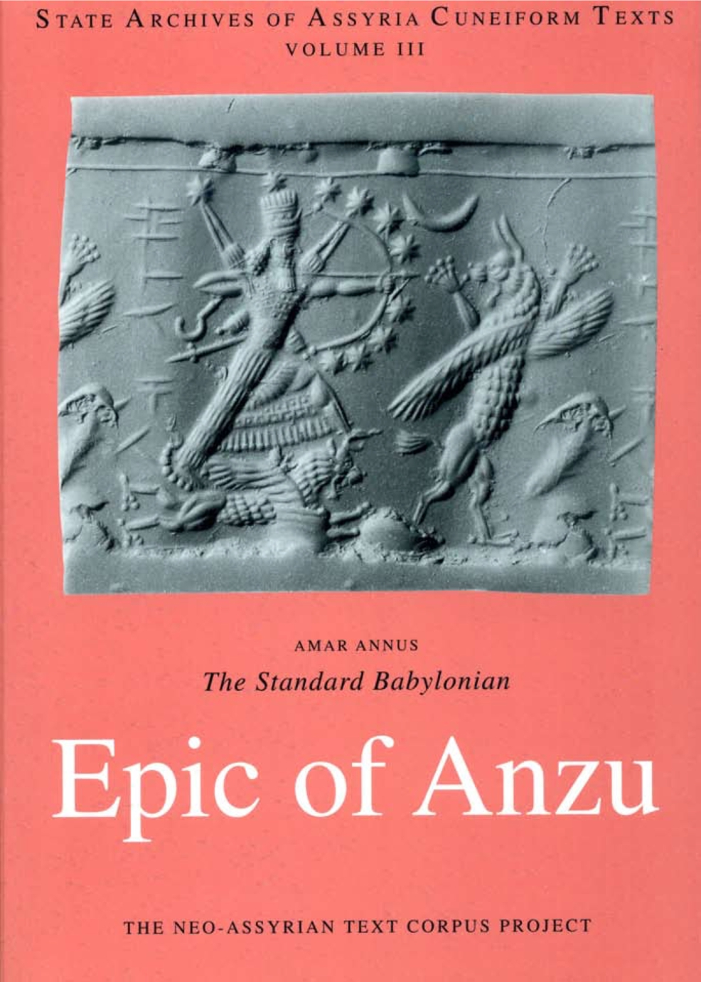 Cover for The Standard Babylonian Epic of Anzu