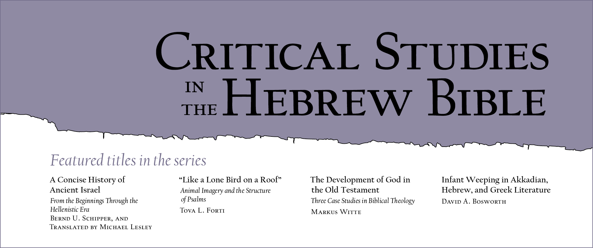 Series: Critical Studies in Hebrew Bible